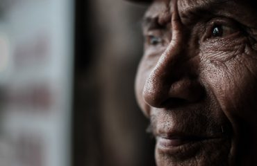 Close Up Portrait Of A Elderly Vietnamese Man