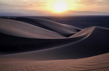 Sweeping Sand Dunes In Iran