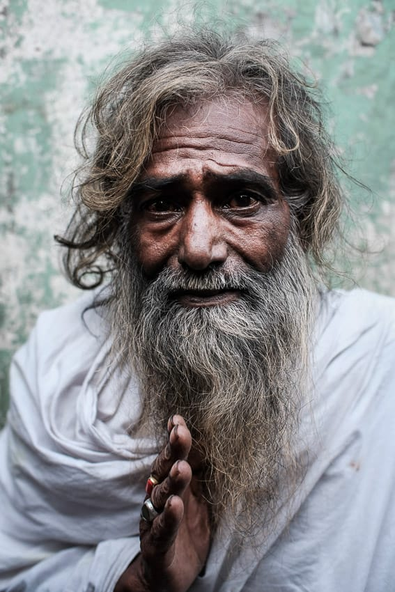 Indian man portrayed during a photography tour in India with Pics of Asia