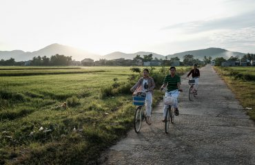 Landscape Photography - People Ride To The Fields