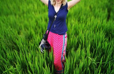 Student Poses In Rice Field Hoi An
