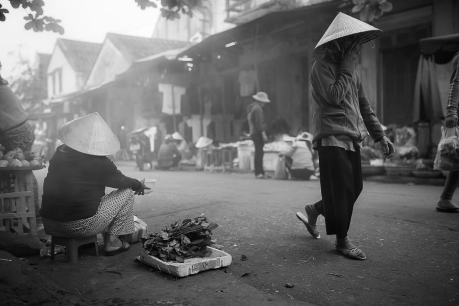 Scene from hoi an market in the morning during hoi an photo tour and workshop