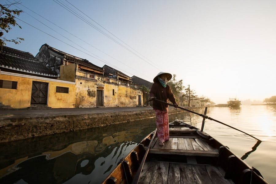 Capturing the sunrise light in Hoi An old town with Hoi An Photo Tour and workshop