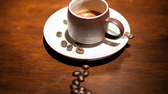 coffee cup and beans in Hoi An