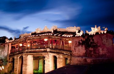 Hoi An Japanese Bridge at night
