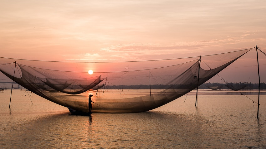 Capture the beauty of the fishing nets with Ho An photo tour and workshop