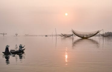 The amazing fishing nets near Hoi An, Vietnam