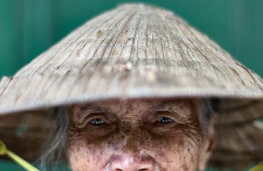 Portrait of a Vietnamese woman near Hoi An